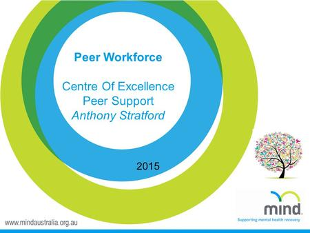 Peer Workforce Centre Of Excellence Peer Support Anthony Stratford 2015.