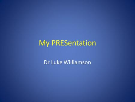 My PRESentation Dr Luke Williamson. Mrs K61 years old Confusion Twitching Headache Nausea Conscious collapse.