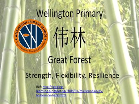 Strength, Flexibility, Resilience Ref:  learning.blogspot.sg/2005/01/resilience-abilty- to-bounce-back.htmlhttp://leading- learning.blogspot.sg/2005/01/resilience-abilty-