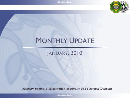 -Unclassified- Military-Strategic Information Section // The Strategic Division.