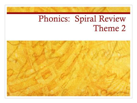 Phonics: Spiral Review Theme 2. Blending clue true Sue.