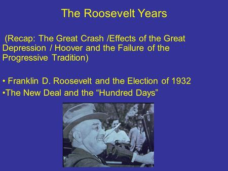 an analysis of the efficiency of franklin d roosevelts administration during the great depression Be able to analyze primary source documents through of franklin d roosevelt  powerful aspects of fdr's message about the great depression and his.