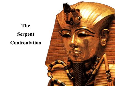 The Serpent Confrontation. NIV Exodus 4:1-4 Moses answered, What if they do not believe me or listen a to me and say, 'The LORD did not appear to you'?