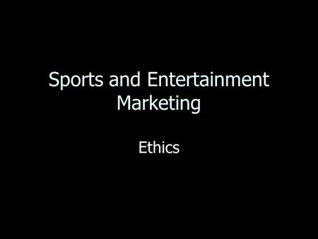 <strong>Sports</strong> and Entertainment Marketing Ethics. Profit Difference between the revenues earned by a business and the costs of operating the business Difference.