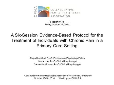 management of chronic pain a national clinical guideline