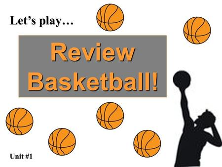 Let's play… Review Basketball! Unit #1. DEF: Overused POS? Adjective Trick? trite Tri sounds like Try and if you try something you might do it over and.