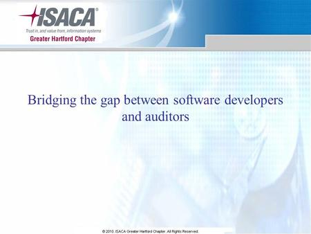 Bridging the gap between software developers and auditors.