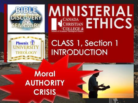 "Moral AUTHORITY CRISIS. THE WORD ""ETHICS"" THE WORD ""ETHICS"" ""… ""… a system of moral principles: the ethics of a culture. The rules of conduct recognized."