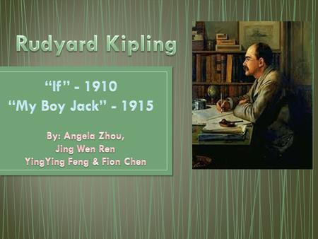 joseph rudyard kipling Джозеф Ре́дьярд Ки́плинг joseph rudyard  personal biography of poet  joseph rudyard kipling was an english poet short story
