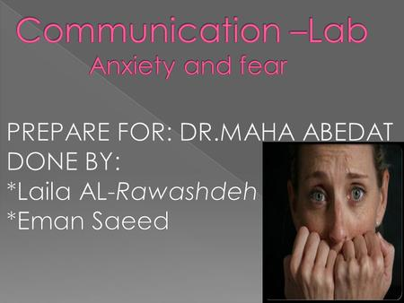 *What is Anxiety? *What are the different types of anxiety disorders? *What are the symptoms? *Anxiety Level *Etiology of anxiety disorders *What are.