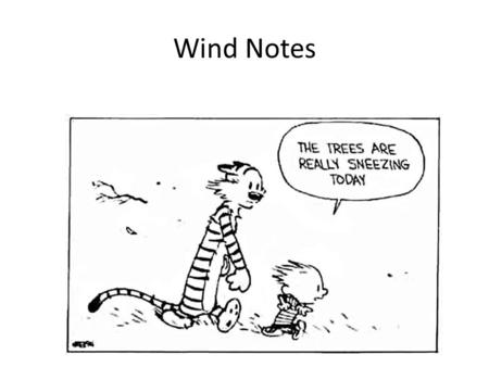 Wind Notes.