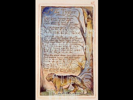 "William Blake's ""The Tyger"""