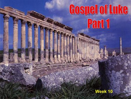 1 Week 10. 2 Plan For Remaining Four Weeks 1. A Question About Fasting (5:33-35) 2. Parable of the Old and the New (5:36- 39) 3. Sabbath observance/restrictions.