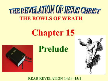 THE BOWLS OF WRATH Chapter 15 Prelude READ REVELATION 14:14 -15:1.