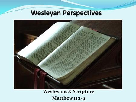 Wesleyan Perspectives