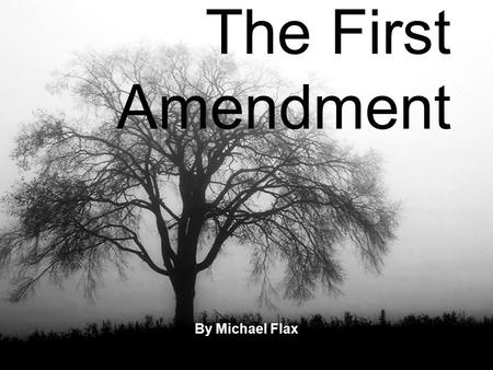 The First Amendment By Michael Flax. The First Amendment Five Parts.
