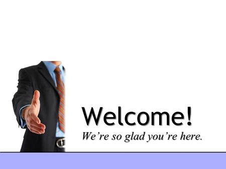 Welcome! We're so glad you're here.. Peacemakers.