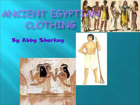 By Abby Sharkey.  Pharaoh servants wore white silk robes, and no matter what social level you were on you would wear lots of jewelry.
