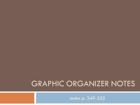 Graphic organizer notes