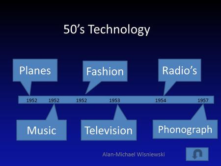 50's Technology Alan-Michael Wisniewski Planes Television Radio's Music Fashion Phonograph 195219541953195219571952.