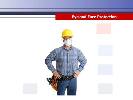 Eye and Face Protection. Disclaimer This training material presents very important information. Your organization must do an evaluation of all exposures,