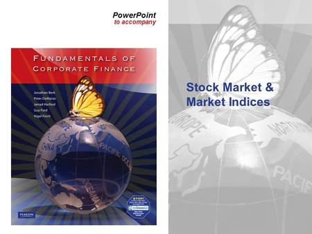 PowerPoint to accompany Stock Market & Market Indices.