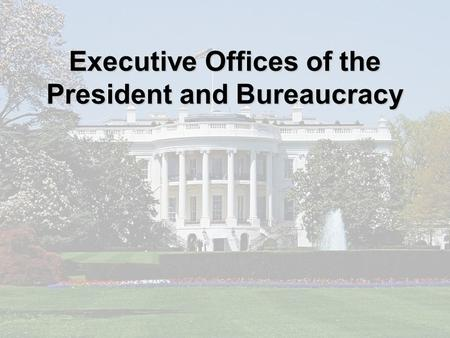 Executive Offices of the President and Bureaucracy.