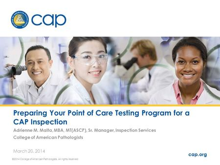 Preparing Your Point of Care Testing Program for a CAP Inspection