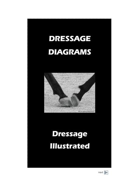 Next. Order Dressage Illustrated Diagram Books Contents Why Dressage Diagrams? Diagram Examples Walk Movement Trot Movement Canter Movement Dressage Illustrated.