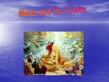 What is Exodus? The Exodus is the second book in the bible. It outlines the life of Moses and his journey out of Egypt with the Israelites.