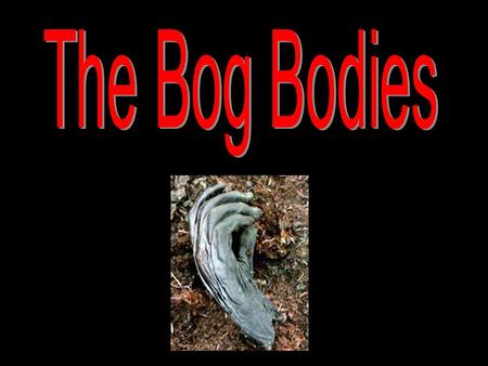 The Bog Bodies.