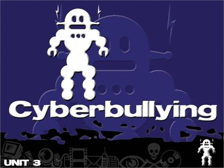 What is Cyberbullying? Cyberbullying is when one person or a group of people aim to threaten, tease or embarrass someone else by using a mobile phone,