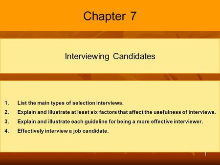 Interviewing Candidates