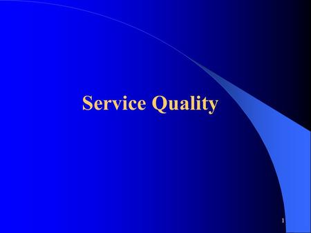 1 Service Quality. 2 What Makes Service Quality Unique 1. Service is intangible - it cannot be easily measured, tested and verified in advance of sales.