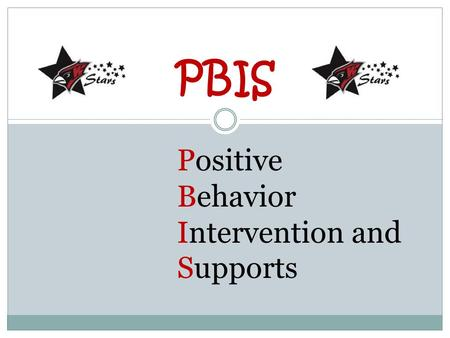 PBIS Positive Behavior Intervention and Supports.