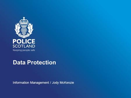 Data Protection Information Management / Jody McKenzie.