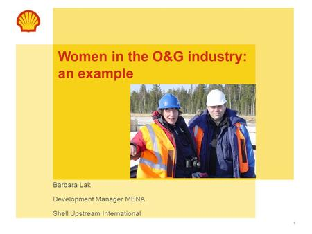 Women in the O&G industry: an example