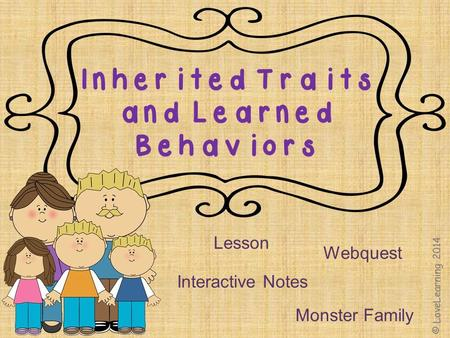 Lesson Interactive Notes Webquest Monster Family.