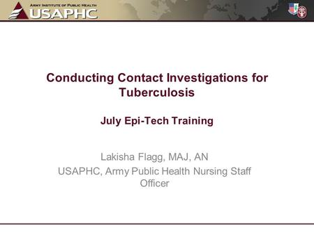 USAPHC, Army Public Health Nursing Staff Officer
