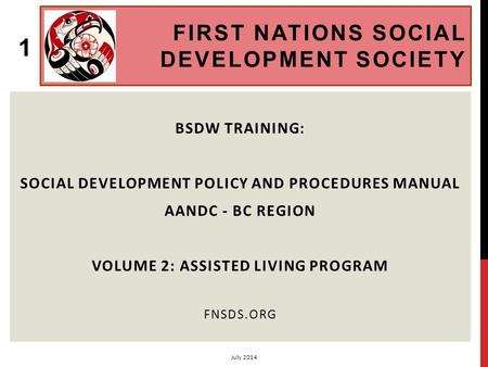 First Nations Social Development Society