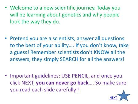 Welcome to a new scientific journey