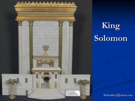 King Solomon Today will be a spiritual feast…