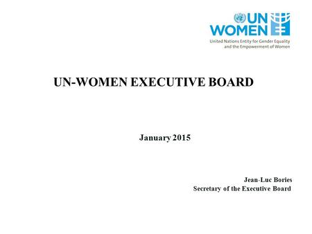 UN-WOMEN EXECUTIVE BOARD