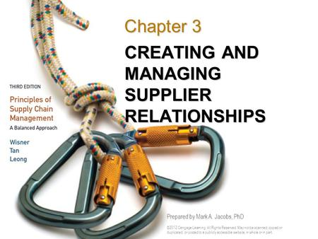 CREATING AND MANAGING SUPPLIER RELATIONSHIPS