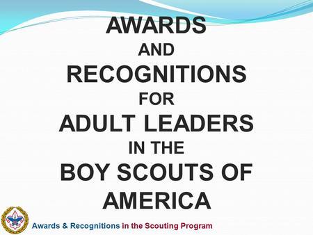boy scout adult leader award Fdr believed