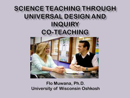 Flo Muwana, Ph.D. University of Wisconsin Oshkosh.