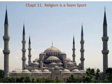 Chapt 11. Religion is a Team Sport. Common viewpoint among some scientists: all religions are delusions that prevent people from embracing science, secularism,