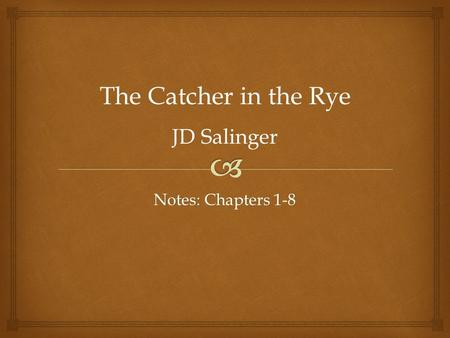 """Thoughts on """"The Catcher in the Rye"""" by J.D. Salinger"""