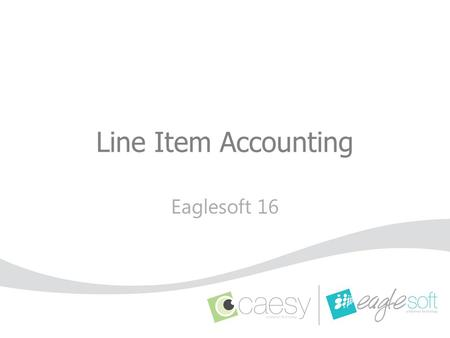 Line Item Accounting Eaglesoft 16.
