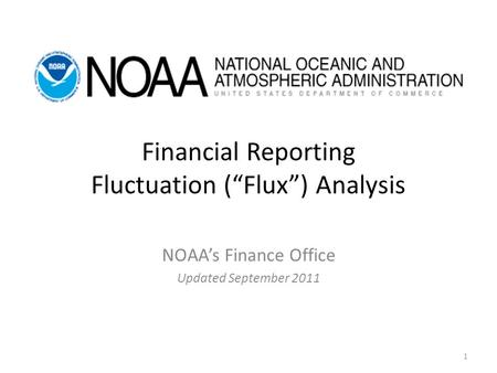 "Financial Reporting Fluctuation (""Flux"") Analysis"